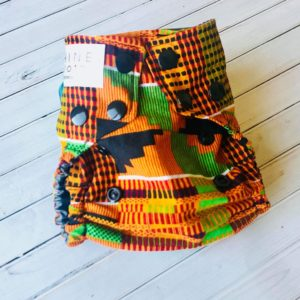 Newborn Kente Cloth Diaper Cover